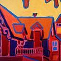 Oak Bluffs In Red by Debra Bretton Robinson