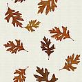 Oak Leaves Art by Christina Rollo