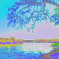 Oak On The Sacramento River - Pastel by Joyce Dickens