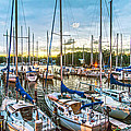 Oak Pt Harbor At Sundown by Brian Wallace