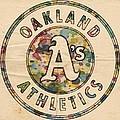 Oakland Athletics Poster Vintage by Florian Rodarte