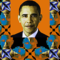 Obama Abstract Window 20130202verticalp28 by Wingsdomain Art and Photography