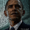 Obama Text Art by Boon Mee