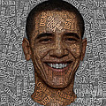 Obama Typography Text Art by Boon Mee