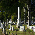 Obelisk And Headstones by Kathy Clark