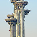 Observation Tower At Olympic Park - Beijing China by Brendan Reals