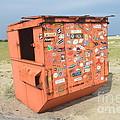 Obx Beach Dumpster by Robert Loe
