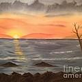 Ocean At Sunset by Tim Blankenship