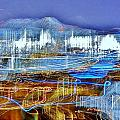 Ocean City Maryland At Night - Blue by Kim Bemis