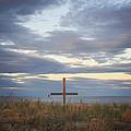 Ocean Grove Nj Beach Cross by Terry DeLuco