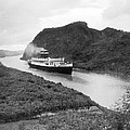 Ocean Liner In Panama Canal by Underwood Archives