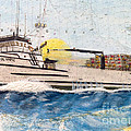 Ocean Olympic King Crab Fishing Boat Nautical Chart Map Art by Cathy Peek