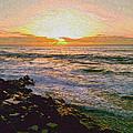 Ocean Sunset In San Diego by Joy Jolley