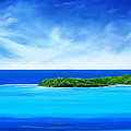 Ocean Tropical Island by Anthony Fishburne
