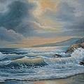 Ocean Under The Evening Glow by Regina Femrite