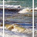 Ocean Waves Triptych by Barbara Griffin