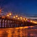 Oceanside Pier Evening by Diana Powell