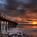 Oceanside Pier Perfect Sunset Ex-lrg by Peter Tellone
