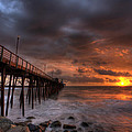 Oceanside Pier Perfect Sunset by Peter Tellone