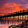 Oceanside Sunset 12 by Larry Marshall