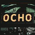 Ocho San Antonio Restaurant Entrance Marquee Sign Cutout Digital Art by Shawn O'Brien