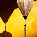 Ochre Wall Silk Lanterns  by Rick Piper Photography