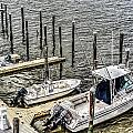 Ocnj Boats At Marina by Joshua Zaring
