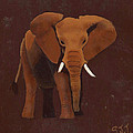 Ocre Elephant by Sandy Jasper