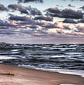 October At The Beach Saugatuck Michigan by Evie Carrier