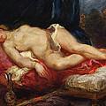 Odalisque by Ferdinand Victor Eugene Delacroix
