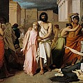 Oedipus And Antigone Or The Plague Of Thebes  by Charles Francois Jalabert