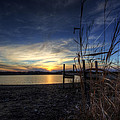 Off Season Sunset At The Lake by David Dufresne
