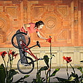 Oh A Pretty Flower - Funny Bmx Flatland Pic With Monika Hinz by Matthias Hauser