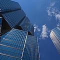Oh So Blue - Downtown Toronto Skyscrapers by Georgia Mizuleva