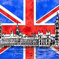 Oh So British - Union Jack And Westminster by Mark E Tisdale