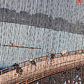 Ohashi Sudden Shower At Atake by Ando Hiroshige