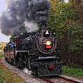 Ohio Central #1293 Steam by Marcia Colelli