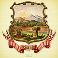 Ohio Coat Of Arms - 1876 by Mountain Dreams