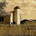 Ohio Farm In Sepia by Frozen in Time Fine Art Photography