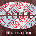 Ohio State Buckeyes Football Recycled License Plate Art by Design Turnpike