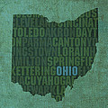 Ohio State Word Art on Canvas by Design Turnpike