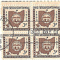 Ohio Three Cent Stamp Plate Block by Charles Robinson