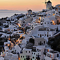 Oia Town During Sunset by George Atsametakis