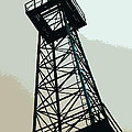 Oil Derrick In Gray by Art Block Collections