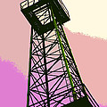 Oil Derrick In Pink by Art Block Collections