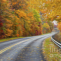 Oil Painted Country Road by Brian Mollenkopf