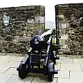 Oil Painting - Cannons And Cannon Balls At Walls Of Stirling Castle by Ashish Agarwal