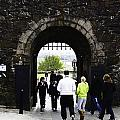Oil Painting - Staff And Tourists At The Entrance Of Stirling Castle by Ashish Agarwal