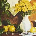 oil painting print of art for sale Golden Lemons  by Diane Jorstad