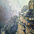 Oil Painting - Majestic Canyon by Roena King